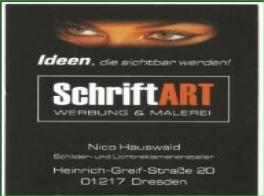 SchriftART Werbung & Malerei